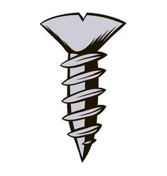 screw icon cartoon vector image vector image
