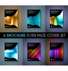 Set of Brochure template Flyer Design or Depliant vector image vector image