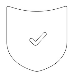 Shield the black color icon vector