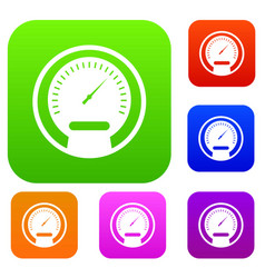 Speedometer set collection vector