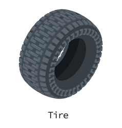 tire icon isometric 3d style vector image