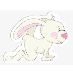 toddler baby rabbit vector image vector image