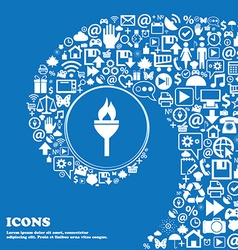 Torch icon nice set of beautiful icons twisted vector
