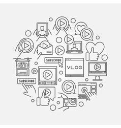 Video blog line vector