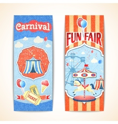 Vintage carnival banners vertical vector image vector image