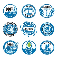 water labels vector image