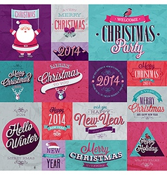 xmas set 2 vector image