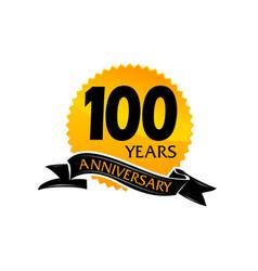 100 years ribbon anniversary vector image vector image
