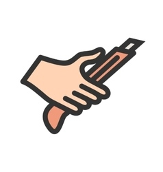 Holding paper cutter vector