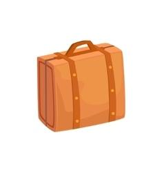 Old-school man leather handbag case item from vector