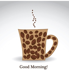 Good morning coffee vector