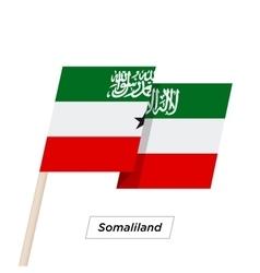 Somaliland ribbon waving flag isolated on white vector