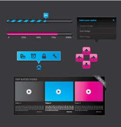 Black set of web design vector