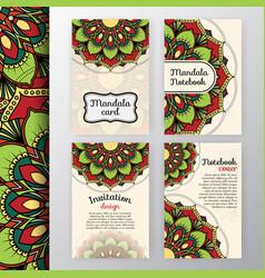 vintage invitation and background design vector image