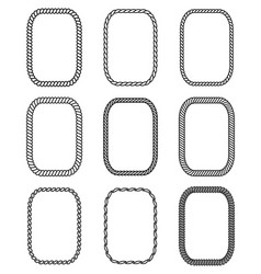 Rope set of rectangular frames collection of vector