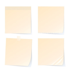 Stick note papers isolated on white background vector