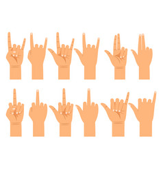 people hand signals different gestures vector image