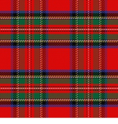Scottish tartan royal stewart vector