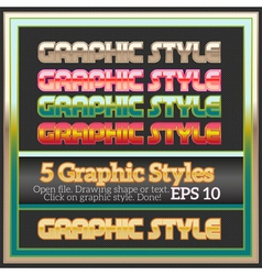 Set of colorful glossy graphic styles for various vector