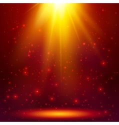 Red shining magic light background vector image