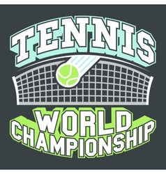Tennis world championship vector