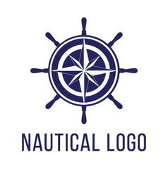 Nautical logo template vector