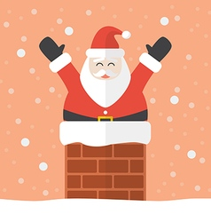 Santa claus in chimney vector