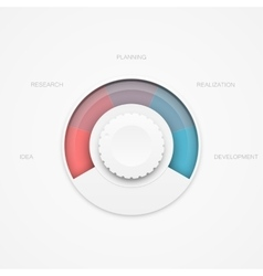 Clean interface element vector