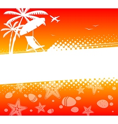 Summer holiday abstract background vector