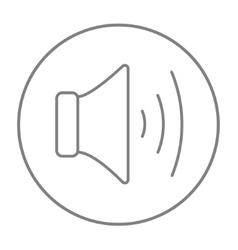Speaker volume line icon vector