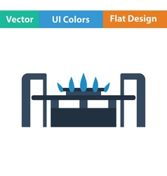 Gas burner icon vector