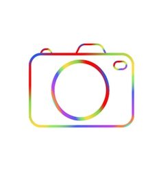 Abstract digital camera on a white background vector image vector image