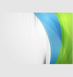 Abstract vibrant tech waves background vector