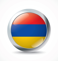 Armenia flag button vector image