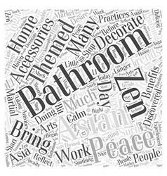 Asian themed bathroom accessories word cloud vector