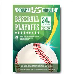 baseball poster design for sport bar vector image vector image