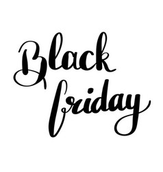 black friday - handdrawn sale vector image vector image