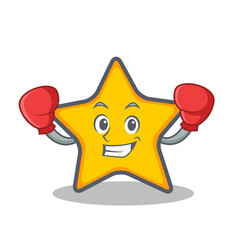 Boxing star character cartoon style vector