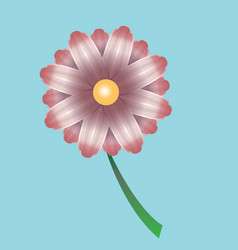 Bright beautiful flower vector
