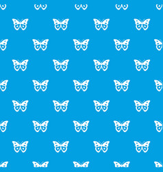Butterfly pierid pattern seamless blue vector