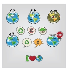Cartoon earth vector