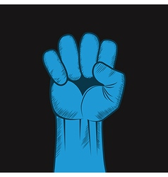 Clenched fist hand Victory revolt concept vector image