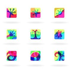 colorful design elements vector image