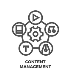 Content management line icon vector