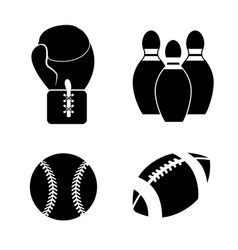 Contour sport game background icon vector