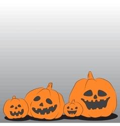 Family of halloween pumpkins vector