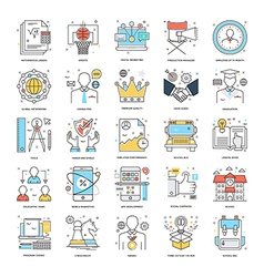 Flat Color Line Icons 5 vector image