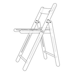 Folding chair sketch vector