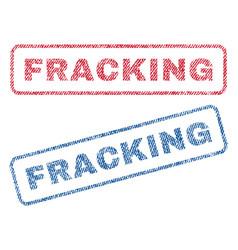 Fracking textile stamps vector