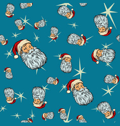 head santa claus christmas seamless background vector image vector image